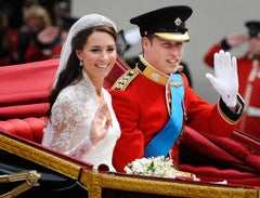 Kate and William, Royal Wedding Carriage, Colour Photography, Original.