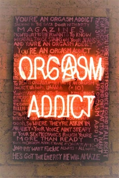 Orgasm Addict, Original. Neon Handblown 21st  century Contemporary Brilliant Art