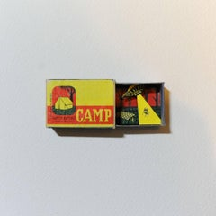 Camp Original Collage Vintage Match box Individuallyhand cut Good Art Reviews Si