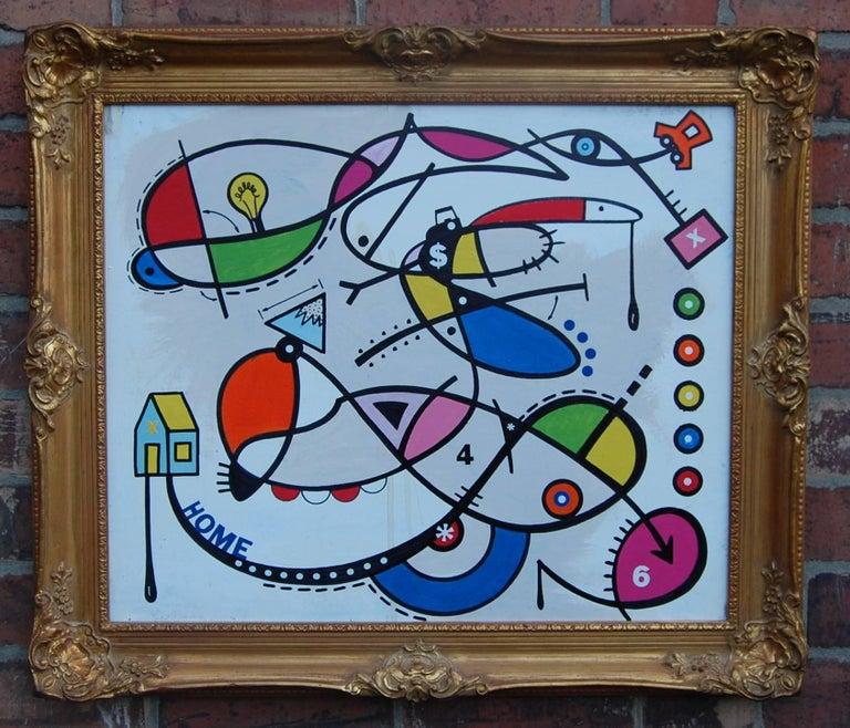 Matt Jordan Cant Dinsky Abstract Expressionist Gold Gilt Frame