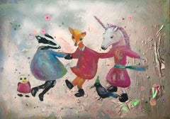 Unicorn Dance, Original, Acrylic Paint, and Household Paint, Original, Signed