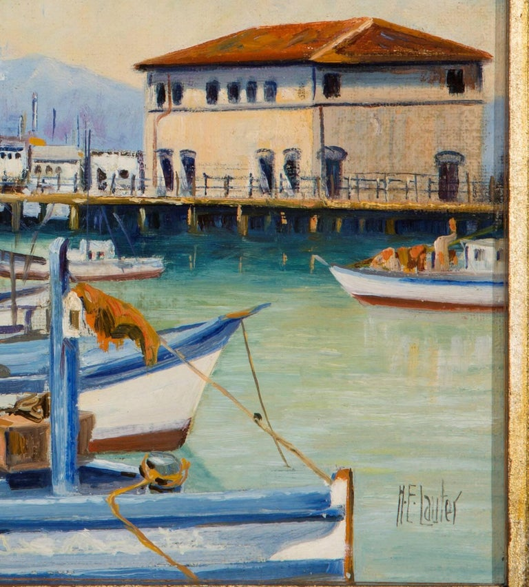 Fisherman's Wharf, San Francisco - Painting by Herman E. Lauter