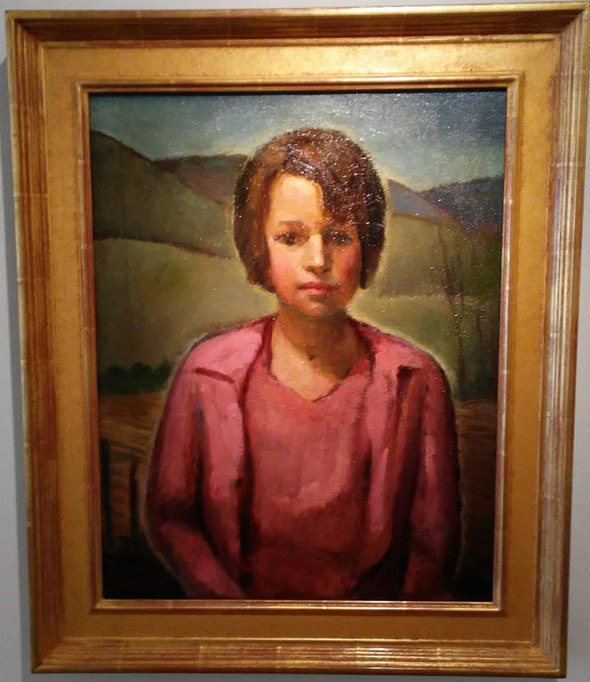Beatrice - Brown Portrait Painting by Robert Gilbert