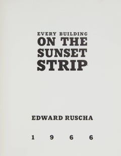 EDWARD RUSCHA. Every Building on the Sunset Strip