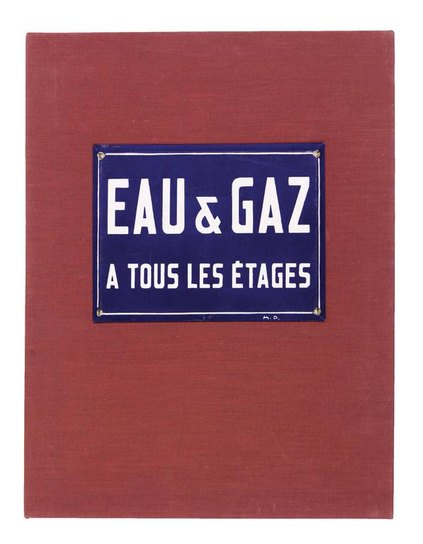DUCHAMP, Marcel.  Eau et Gaz à Tous les Étages. - Mixed Media Art by Marcel Duchamp