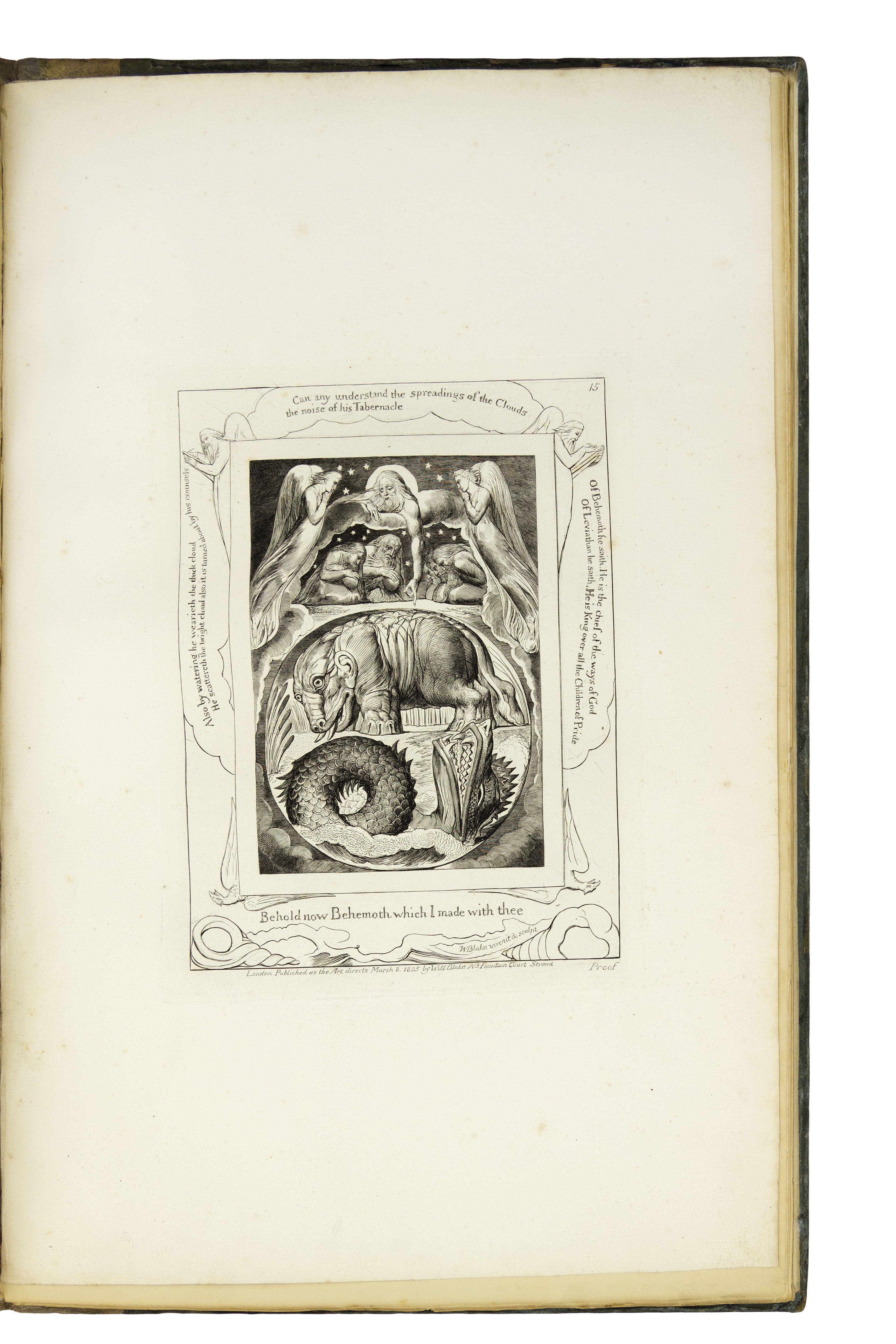 BLAKE, William. Illustrations of the Book of Job