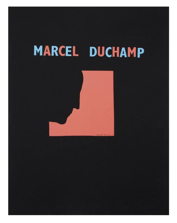DUCHAMP. Five Original Duchamp Screen-Print Posters: Self Portrait in Profile For Sale 3