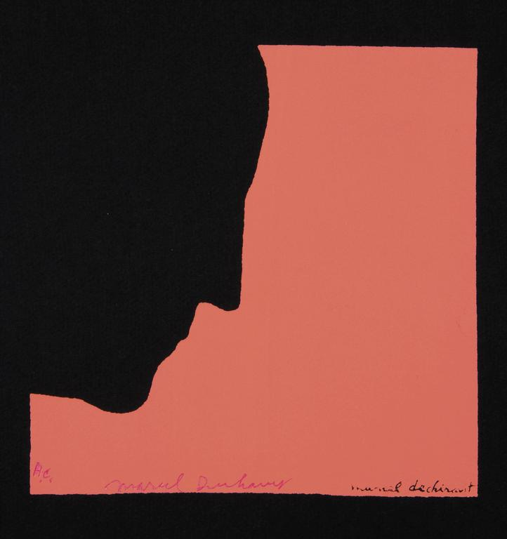 DUCHAMP. Five Original Duchamp Screen-Print Posters: Self Portrait in Profile For Sale 1
