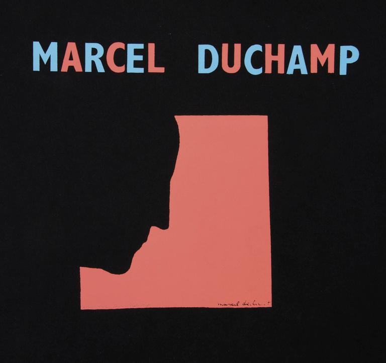 DUCHAMP. Five Original Duchamp Screen-Print Posters: Self Portrait in Profile For Sale 4