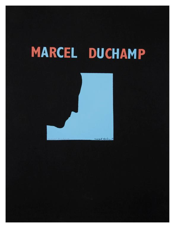 DUCHAMP. Five Original Duchamp Screen-Print Posters: Self Portrait in Profile For Sale 5