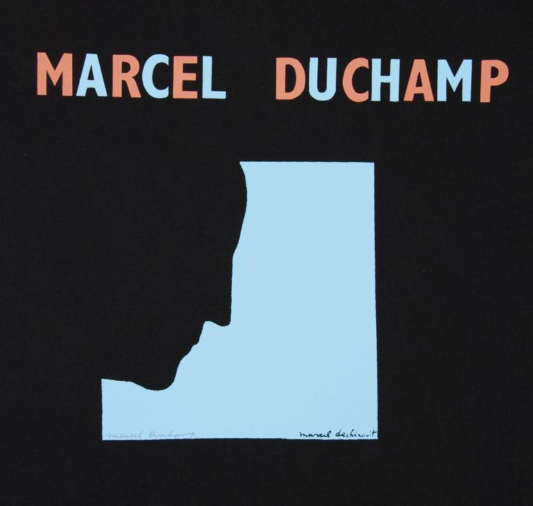 DUCHAMP. Five Original Duchamp Screen-Print Posters: Self Portrait in Profile For Sale 6