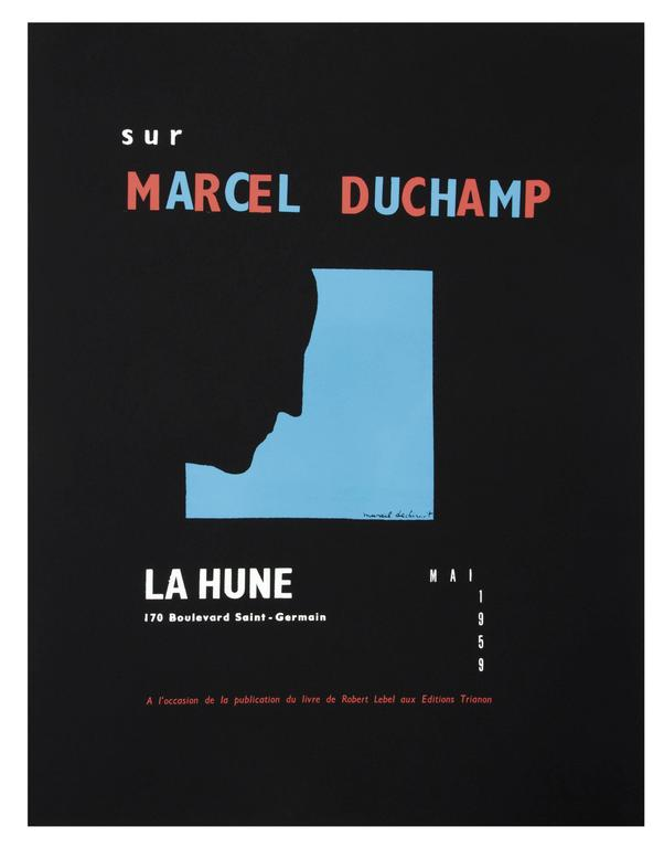 DUCHAMP. Five Original Duchamp Screen-Print Posters: Self Portrait in Profile For Sale 7