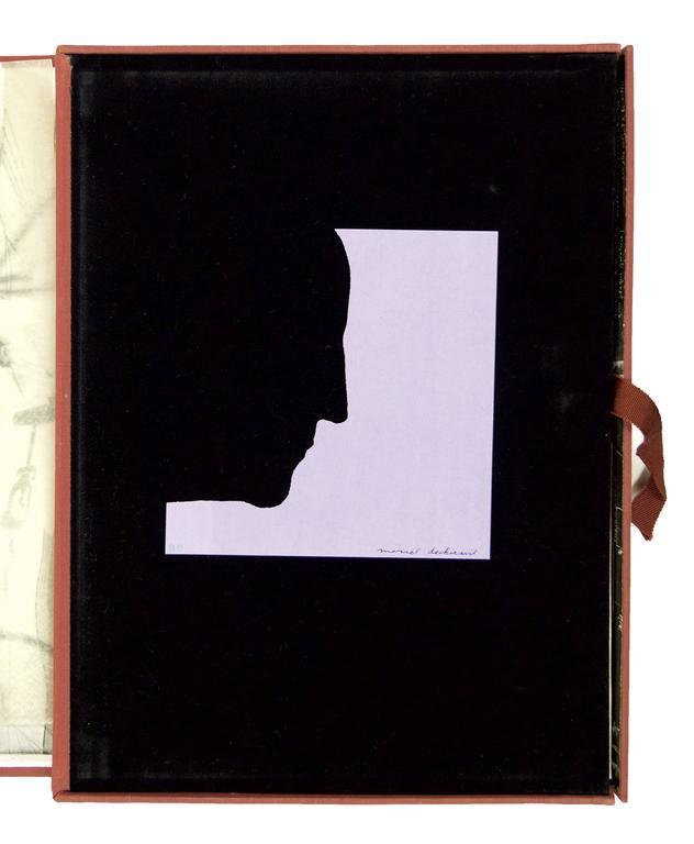 DUCHAMP, Marcel.  Eau et Gaz à Tous les Étages. - Dada Mixed Media Art by Marcel Duchamp