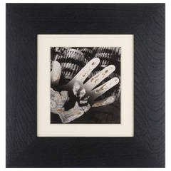 Gears with hand - Photogram / Solarization