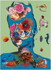 The denial of death 2 - 1, Ashkan Honarvar, Mixed Media, Collage, Figurative