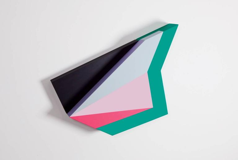 Polygon in Space #21, Zin Helena Song, Geometric Abstraction, Minimalism, Wood - Painting by Zin Helena Song