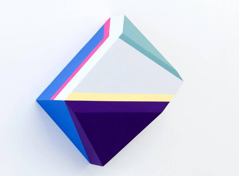 Origami 1, #29, Zin Helena Song, Geometric Abstraction, Minimalism, Mixed Media - Painting by Zin Helena Song