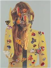 Denial of Death 5-3, Ashkan Honarvar, Mixed Media, Collage, Figurative, Female