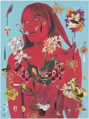 The Denial of Death 5-2, Ashkan Honarvar, Mixed Media, Collage, Figurative