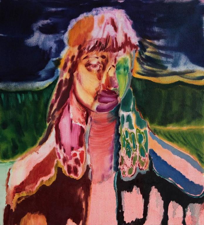 Twitching Eye, Maja Ruznic, Oil Paint, Figurative Abstraction, Portrait