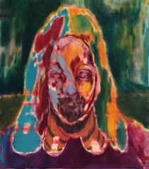 The Water Fetcher, Maja Ruznic, Oil Paint, Figurative Abstraction, Portait