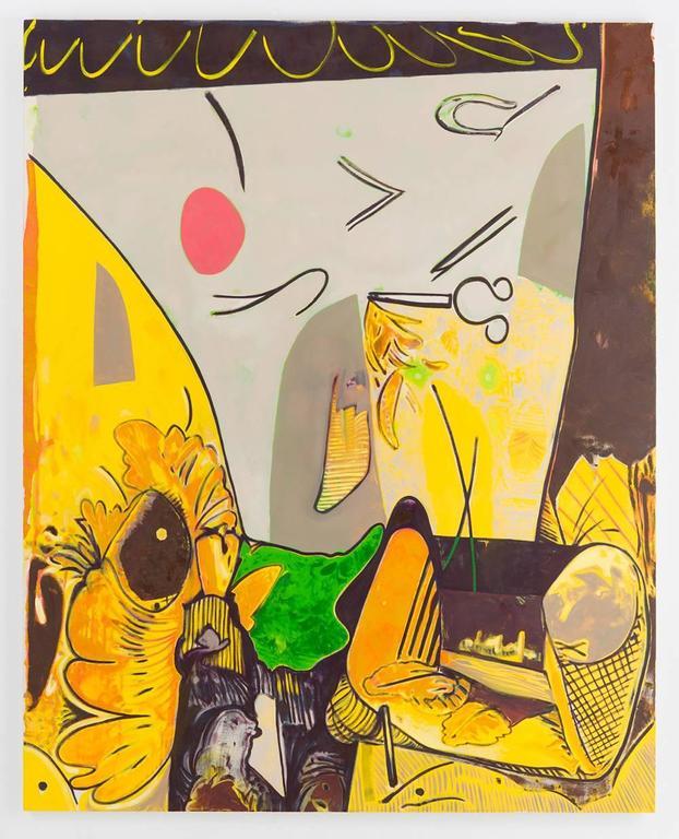 Banana Sunrise, Scott Anderson, Oil Paint, Figurative Abstraction