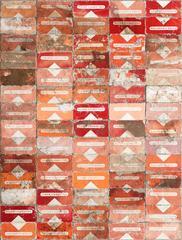 Red Filter, Robert Larson, Geometric, Abstract, Marlboro, Mixed Media, Canvas