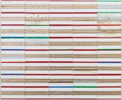 Pyramid Stripes, Robert Larson, Geometric, Abstract, Mixed Media