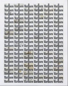 Black and White (Marlboro), Robert Larson, Marlboro cartons, Paper, Grid