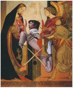 King of worms - Golden lullaby 2, Ashkan Honarvar, Collage, Figurative,