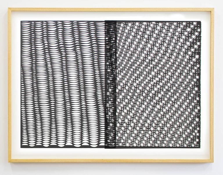 Permutation 2 (Diciduous), Adam Feibelman, Acrylic, Mixed Media, Paper