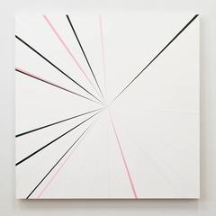 Aisha, Kenton Parker, Geometric Abstraction, Acrylic Paint, Wood Panel