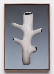 Hollow Form II, Brian Robertson, Raw Walnut Artist's Frame, Figurative
