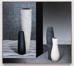 Skism, Brian Robertson, Acrylic Paint, Raw Walnut Artist's Frame, Figurative