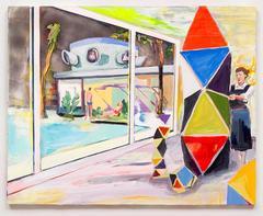 Night Studio (Ray Eames), Elizabeth Huey, Oil Paint, Acrylic Paint, Figurative