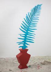 Fern I, Jonathan Chapline, Sculpture, Plant, Acrylic Paint, Wood