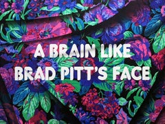 A Brain Like Brad Pitt's Face Text Based Painting, Adam Mars, Cultural Comment