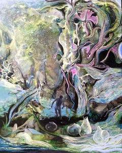 The Heart of Everything, Robert Gutierrez, Gouache, Watercolor, Clay Board Panel