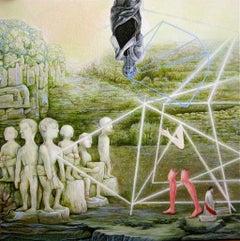 Zeitgeist, Robert Gutierrez, 2016 Gouache, Clayboard Panel, Figurative, Surreal