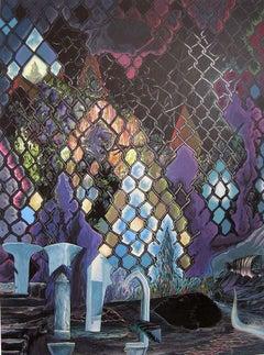 No Exit, Robert Gutierrez, 2011, Gouache, Clayboard Panel, Figurative, Surreal
