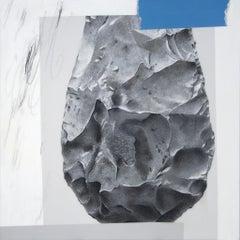 Not Hostile, Simply Indiferent, 2014, Ramsey Dau, Acrylic, Graphite, Wood Panel