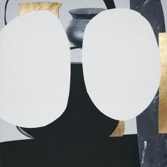 Pale Nimbus, 2015, Ramsey Dau, Acrylic, Gold Leaf, Graphite, Colored pencil