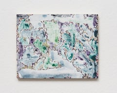 Verdure 1, 2018, Sarah Ann Weber, Watercolor, Color Pencil, Panel, Abstract
