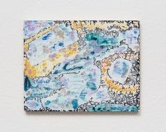 Verdure 3, Sarah Ann Weber, Watercolor, Color Pencil, Panel, Abstract