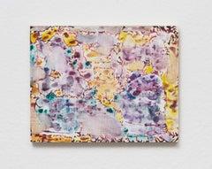Verdure 4, 2018, Sarah Ann Weber, Watercolor, Color Pencil, Panel, Abstract