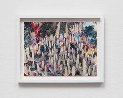 Untitled, 2018, Sarah Weber, Watercolor, Color Pencil, Arches, Artist's Frame