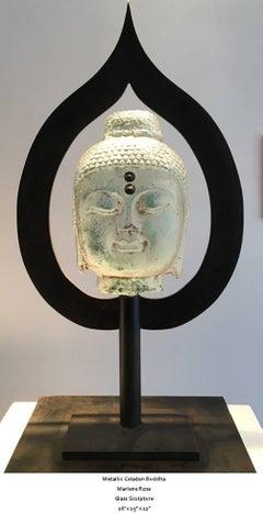 Metallic Celadon Buddha