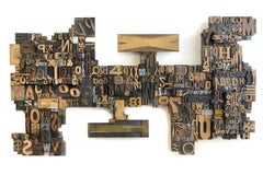 A Puzzle for the Future (wood, sculpture, letters, numbers)