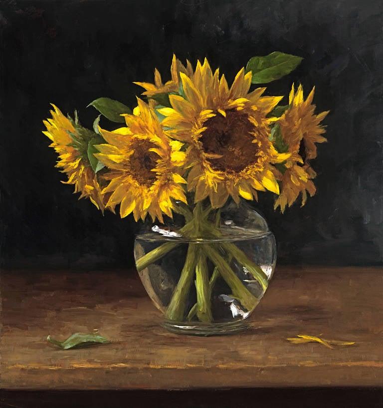 Sarah Lamb Sunflowers Painting At 1stdibs