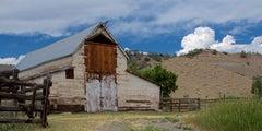 White Barn (landscape, building, barn, blue sky)